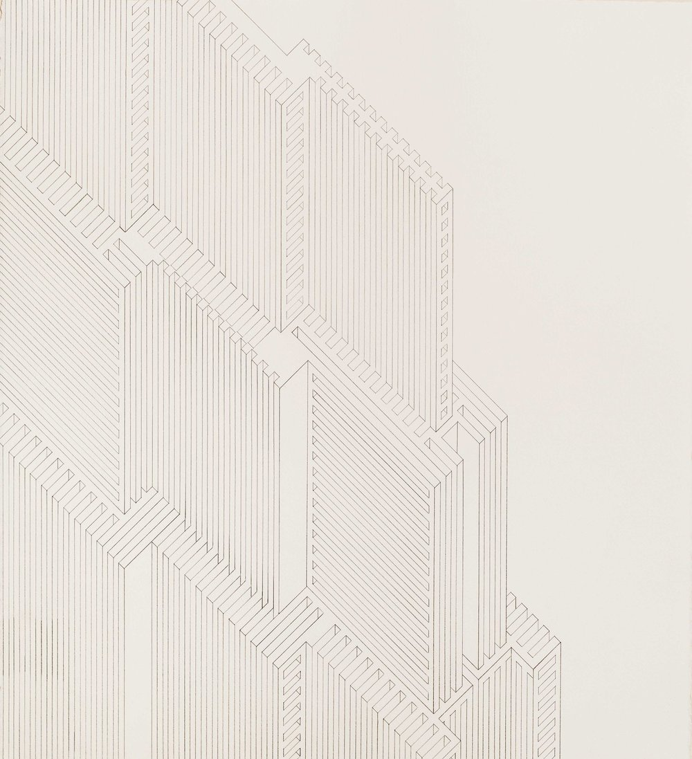 Structure 3, 2013  graphite on watercolor paper  24.5 x 22 inches