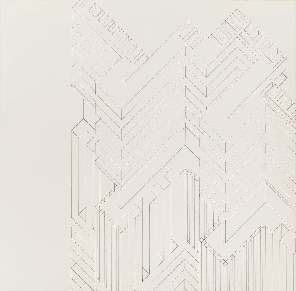 Structure 8, 2013  graphite on watercolor paper  22 x 22 inches