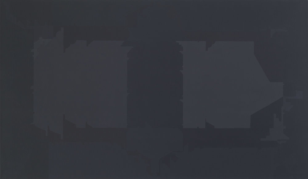 Façades 11, 2012  acrylic on canvas  28 x 48 inches