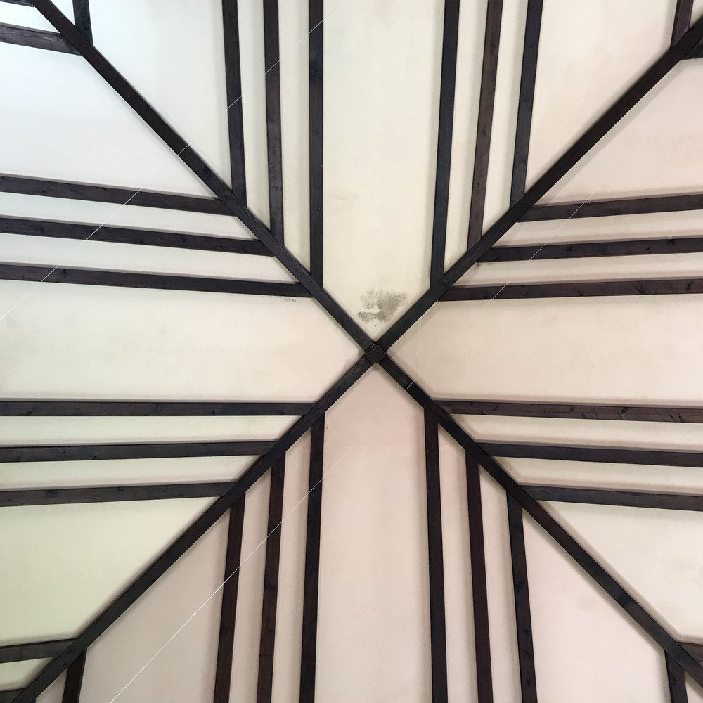 Ceiling at the Assembly Hall at Hillside Day School