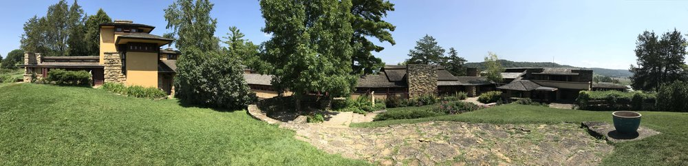 Panorama of Taliesin from the interior