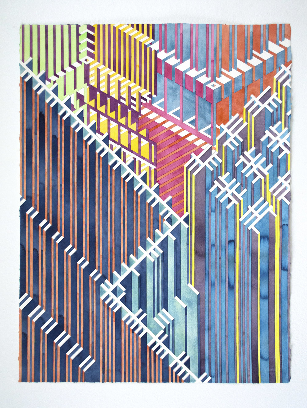 Untitled (supremacy), 2018 | watercolor graphite on watercolor paper | 30 x 22 inches