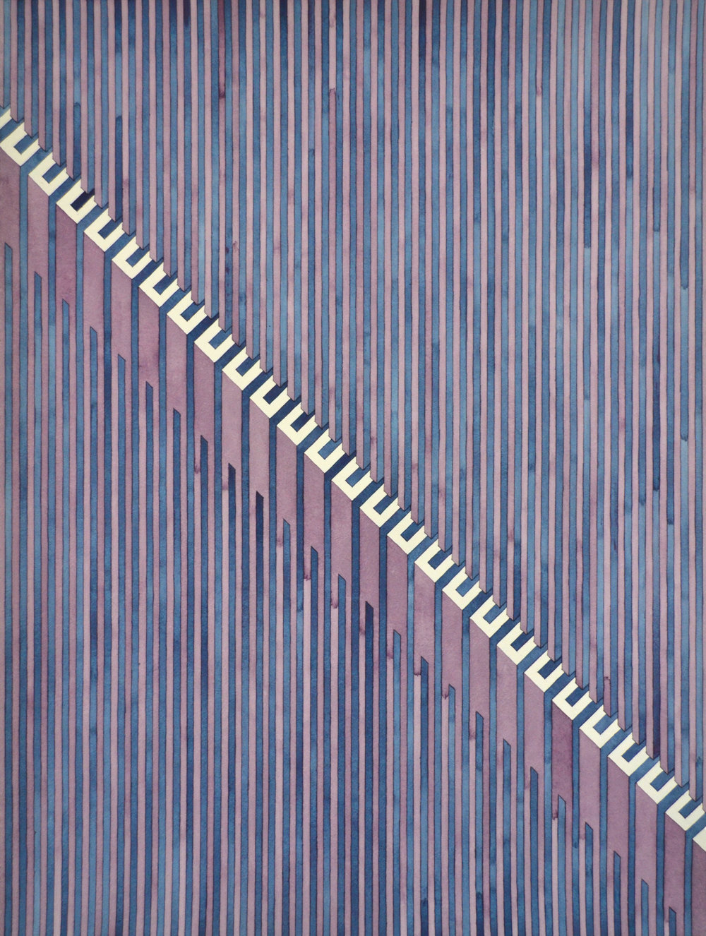 Visage (deficient), 2019  watercolor graphite on watercolor paper  24 x 18 inches