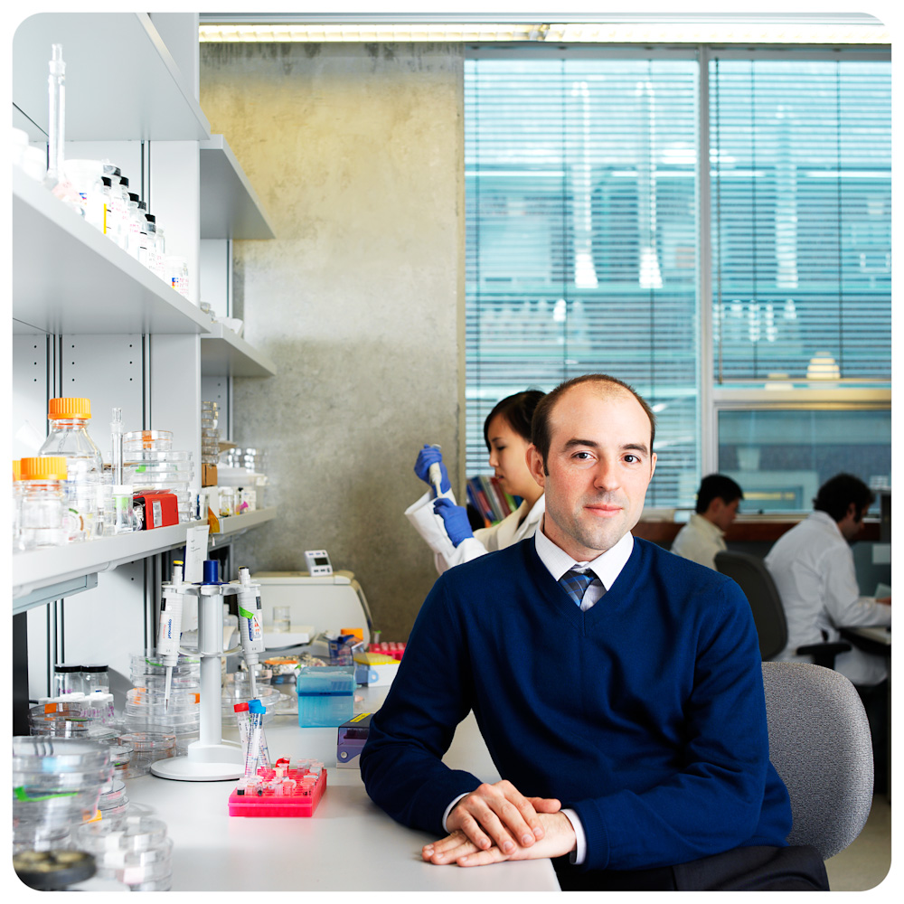 Aaron Wheeler, DMA scientist, for U of T Medicine Magazine