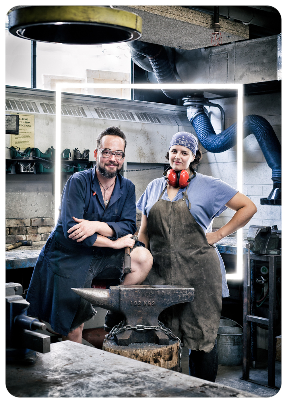 OCAD welding shop staff, Sketch Magazine