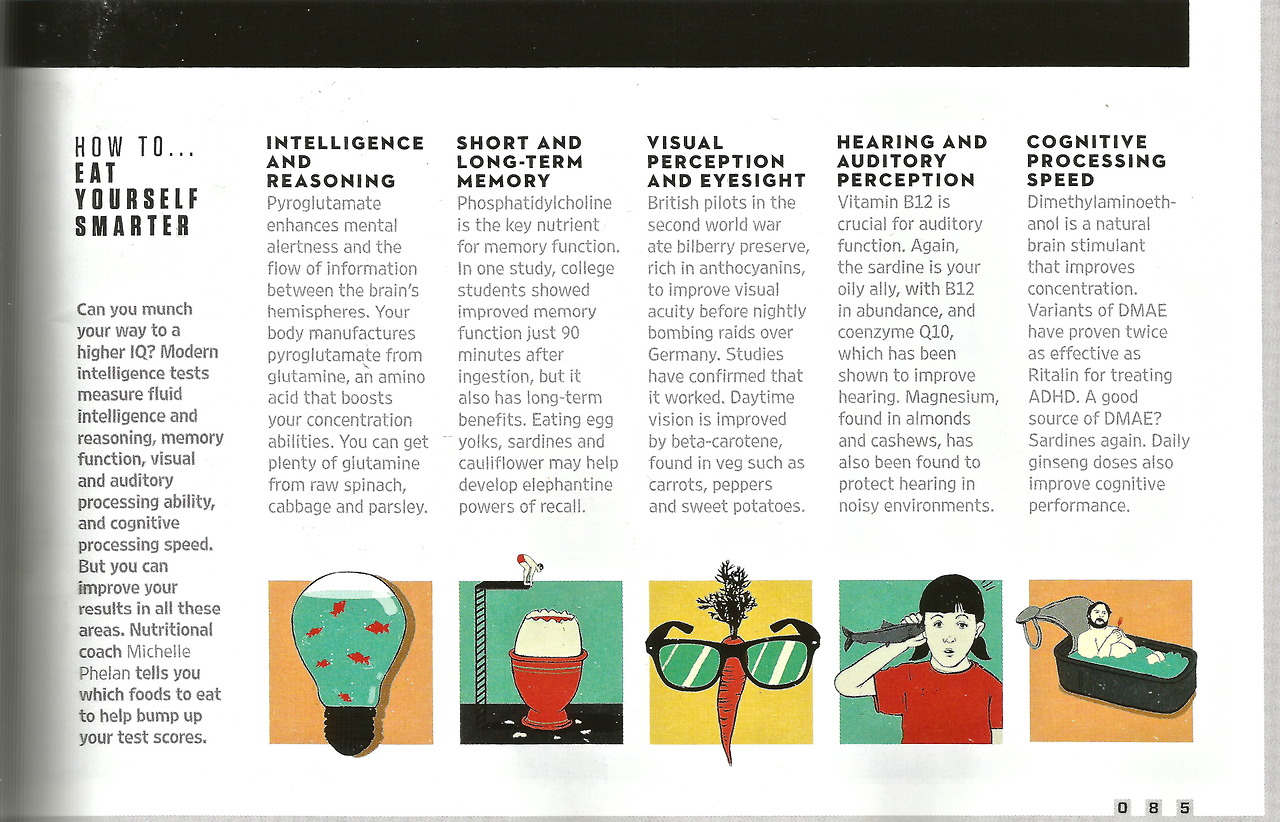 Legible version of my WIRED article on How to eat yourself smarter