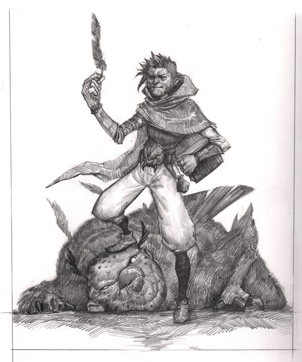 """Mages Are Dicks & Troll Bird"" Graphite on Bristol Paper"