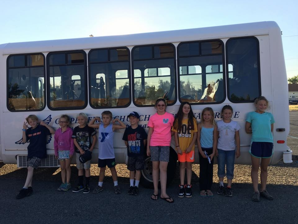 Children heading to Kid's Camp in Montana 2016
