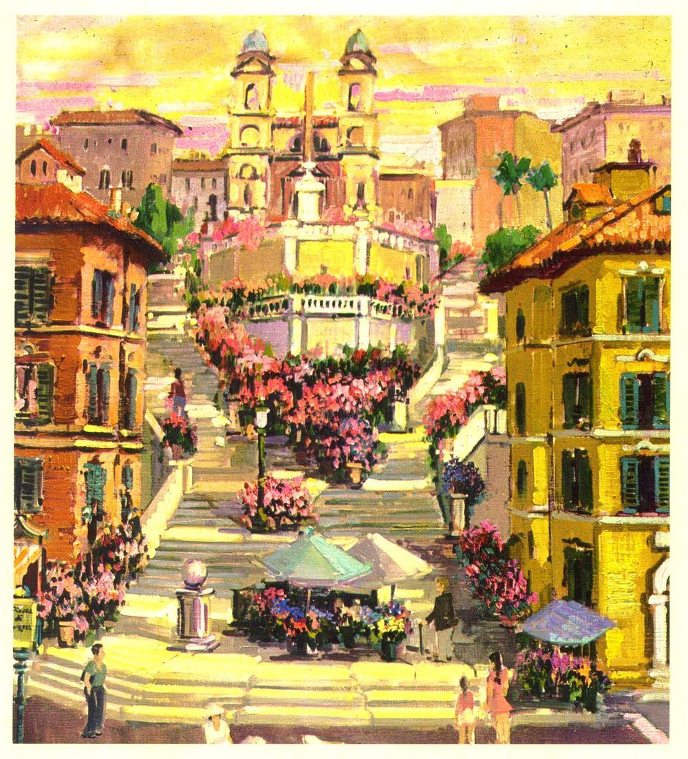 Piazza di Spagna, Roma, Italia, 1980