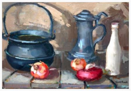Still Life of Kettle & Onions, 1971
