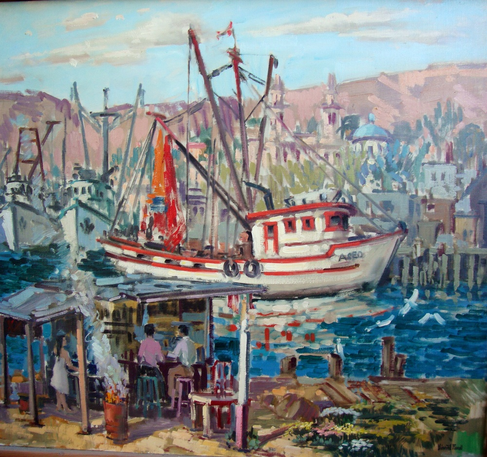 Guaymas Port, Mexico, 1970 Oil on canvas