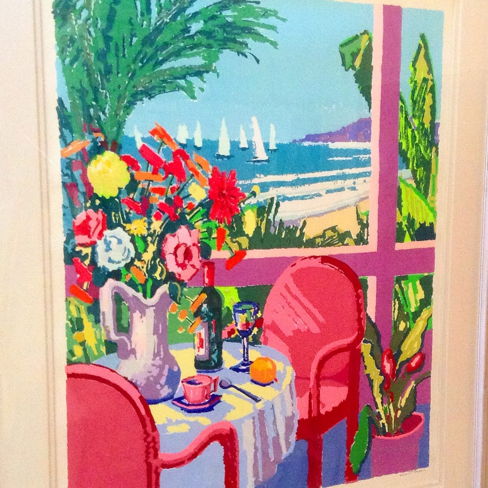 """""""View From The Ritz"""" limited edition serigraph print as seen @vincentfarrellgallery"""