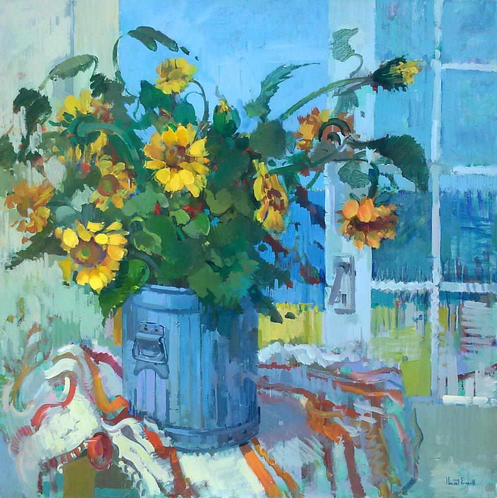 Edith Poggi Sunflowers outside 2.jpg
