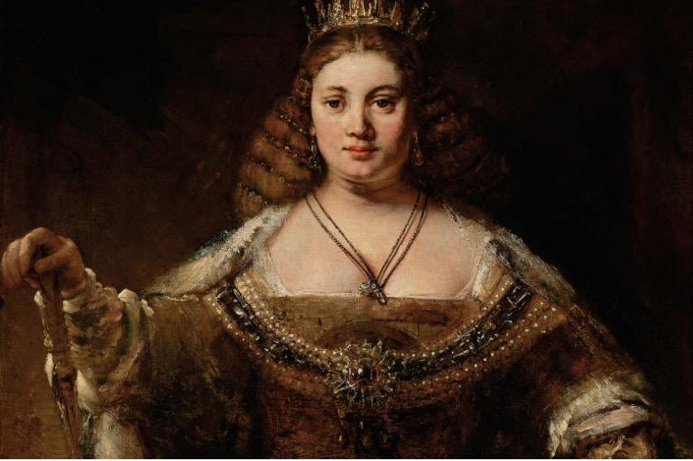 """""""Juno"""" 1662-1665 Rembrandt Van Rijn (1606-1669) permanent collection of the Hammer Museum"""
