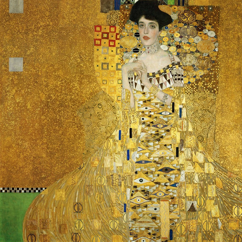 Portrait of Adele Bloch-Bauer 1907 by Gustav Klimt  (1862-1918)