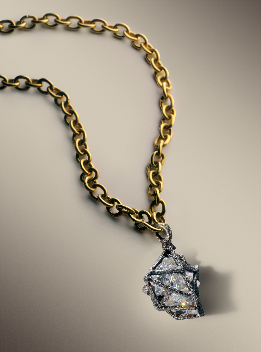 diamond cage pendant