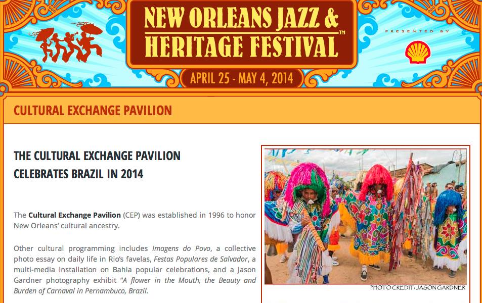 Jason Gardner for New Orleans Jazz & Heritage Fest.