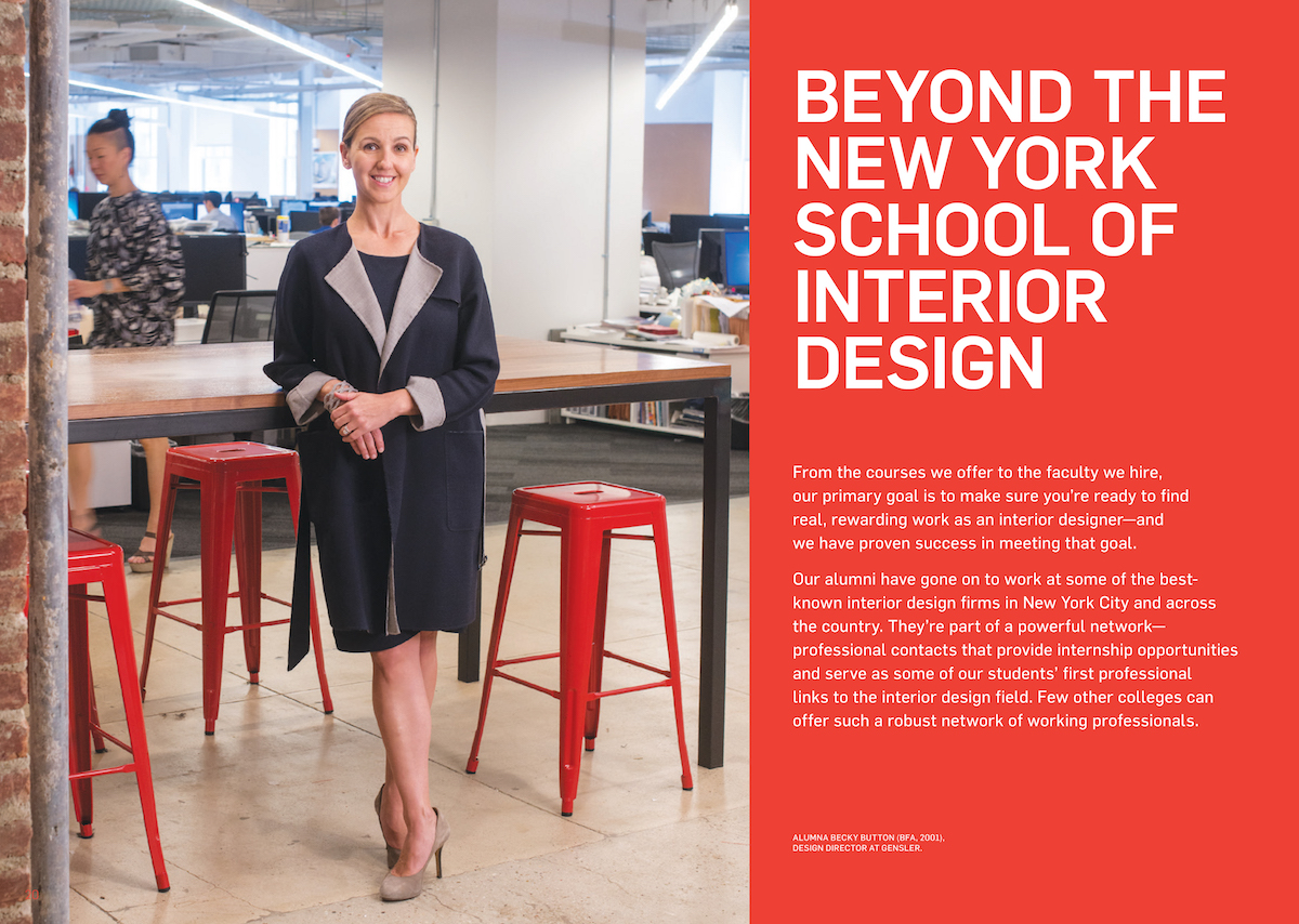 Full rebranding campaign for New York School of Interior Design
