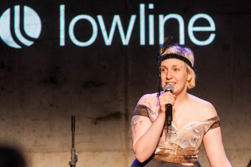 Lena Dunham at Lowline Anti-Gala