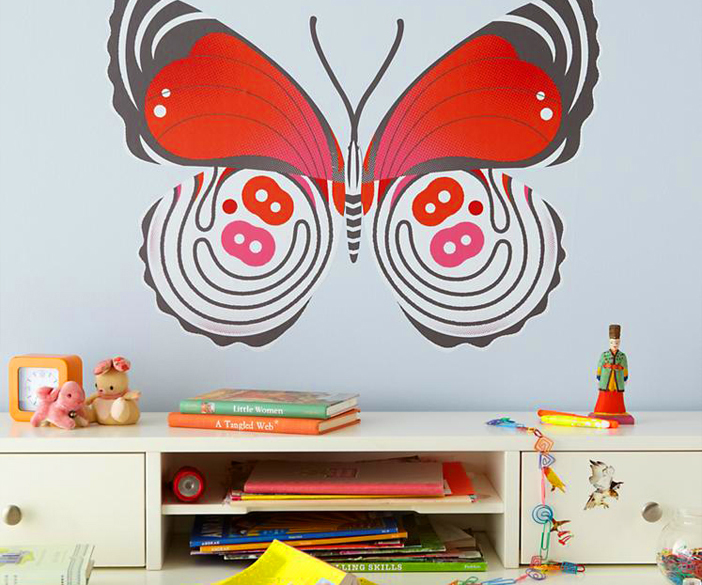 butterfly wall decals licensed by the land of nod