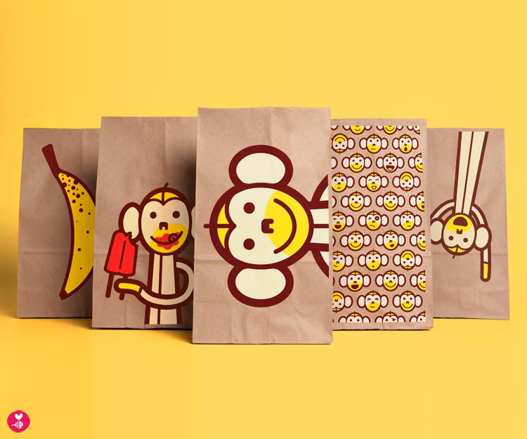 Monkey Snack Sacks