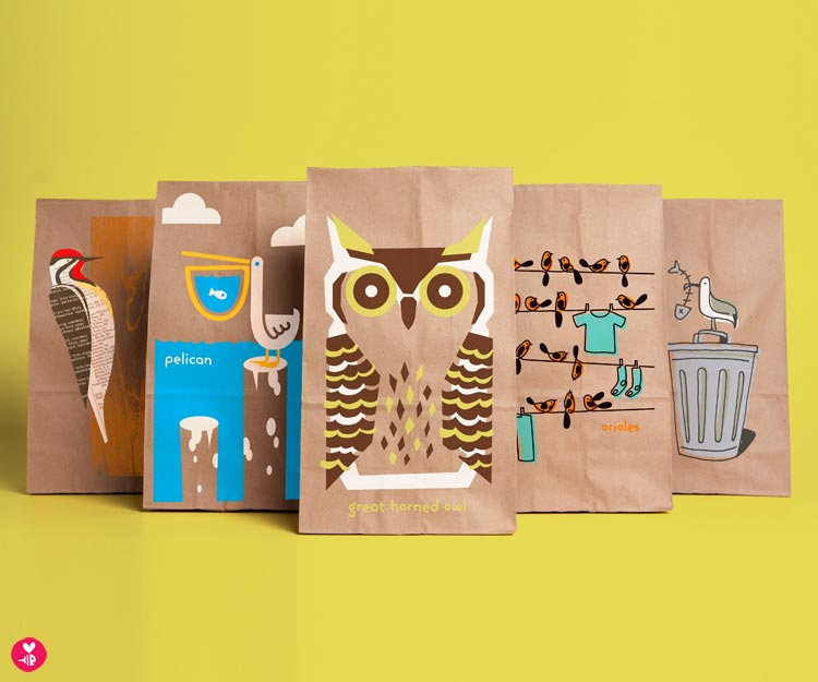 Fun Birds Snack Sacks