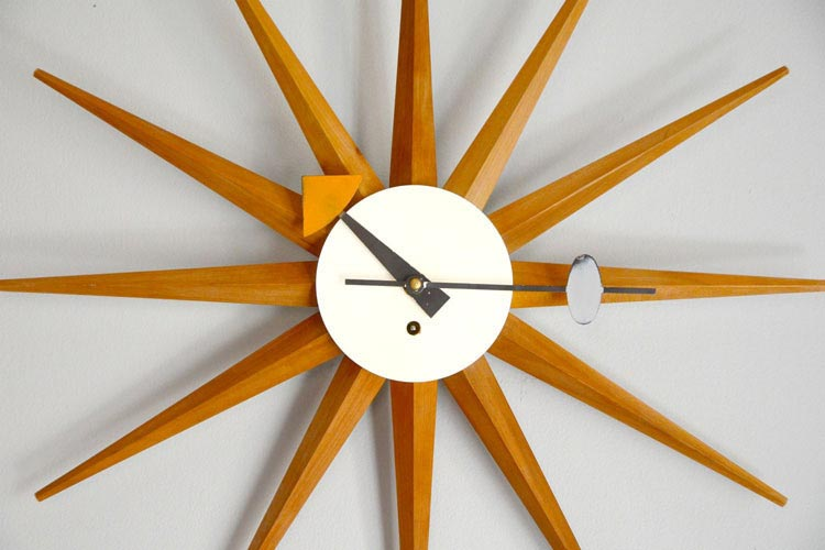 George Nelson (whom we LOVE) spike wall clock