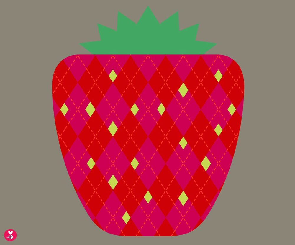strawberry screen print