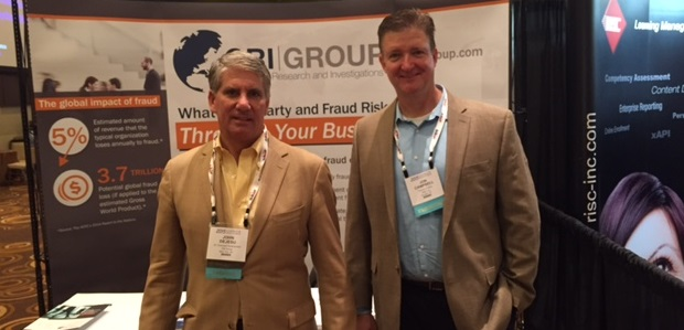 John Dejesu, CRI Group's Director of Business Development, with John Campbell at the Compliance & Ethics Institute