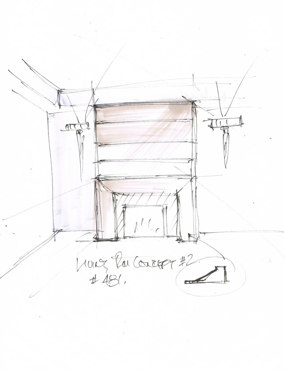 Concept for fireplace