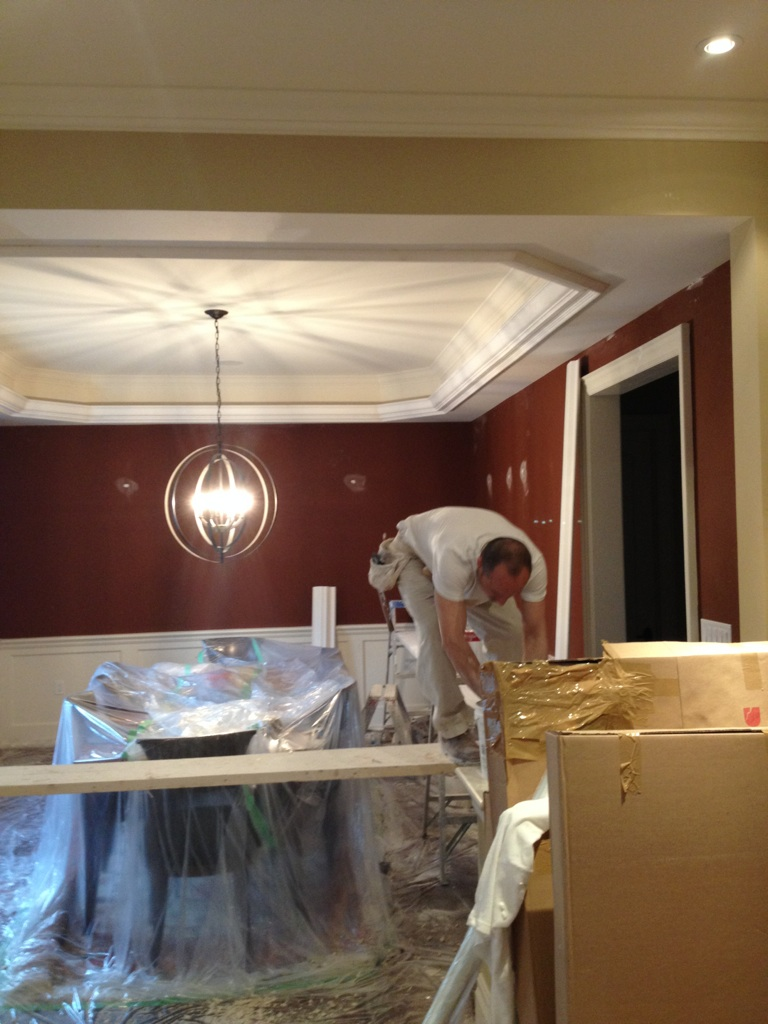 This whole room, including wainscot will be painted Asphalt