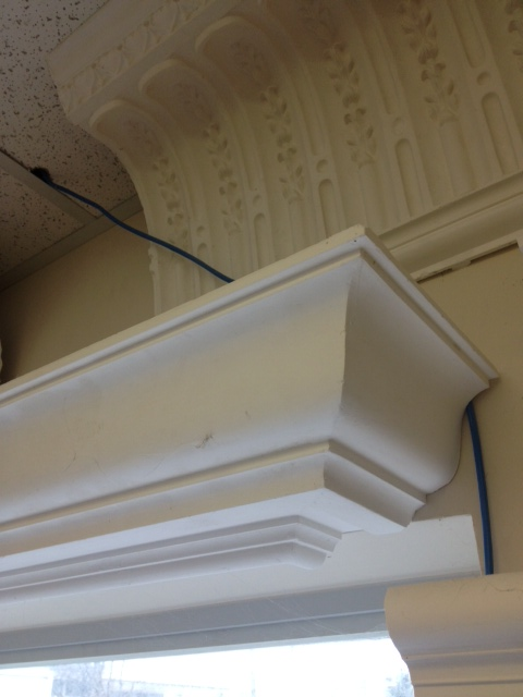 detail of crown moulding