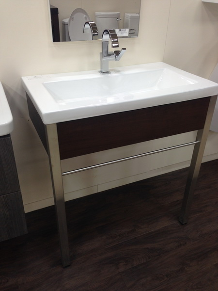 Free standing vanities are available in more diverse styles