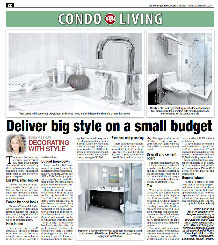 Toronto Sun Sept 5 , 2014