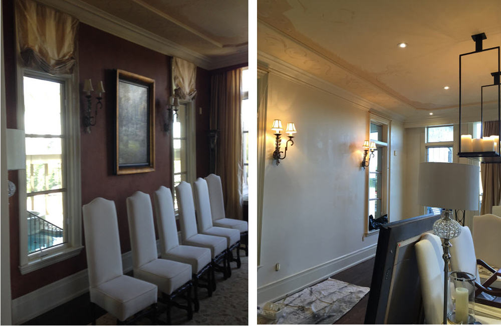 The Dining room is being 'lightened up with a soft textured finish, a new dining table and chairs will be coming.