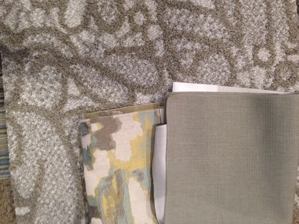 Fabrics and upholstery pieces from Decor-rest, carpet from FLOR and furnishings from Sunpan and Geovin