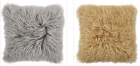 Pillows in Alpaca are a fun detail to add on your sofa.
