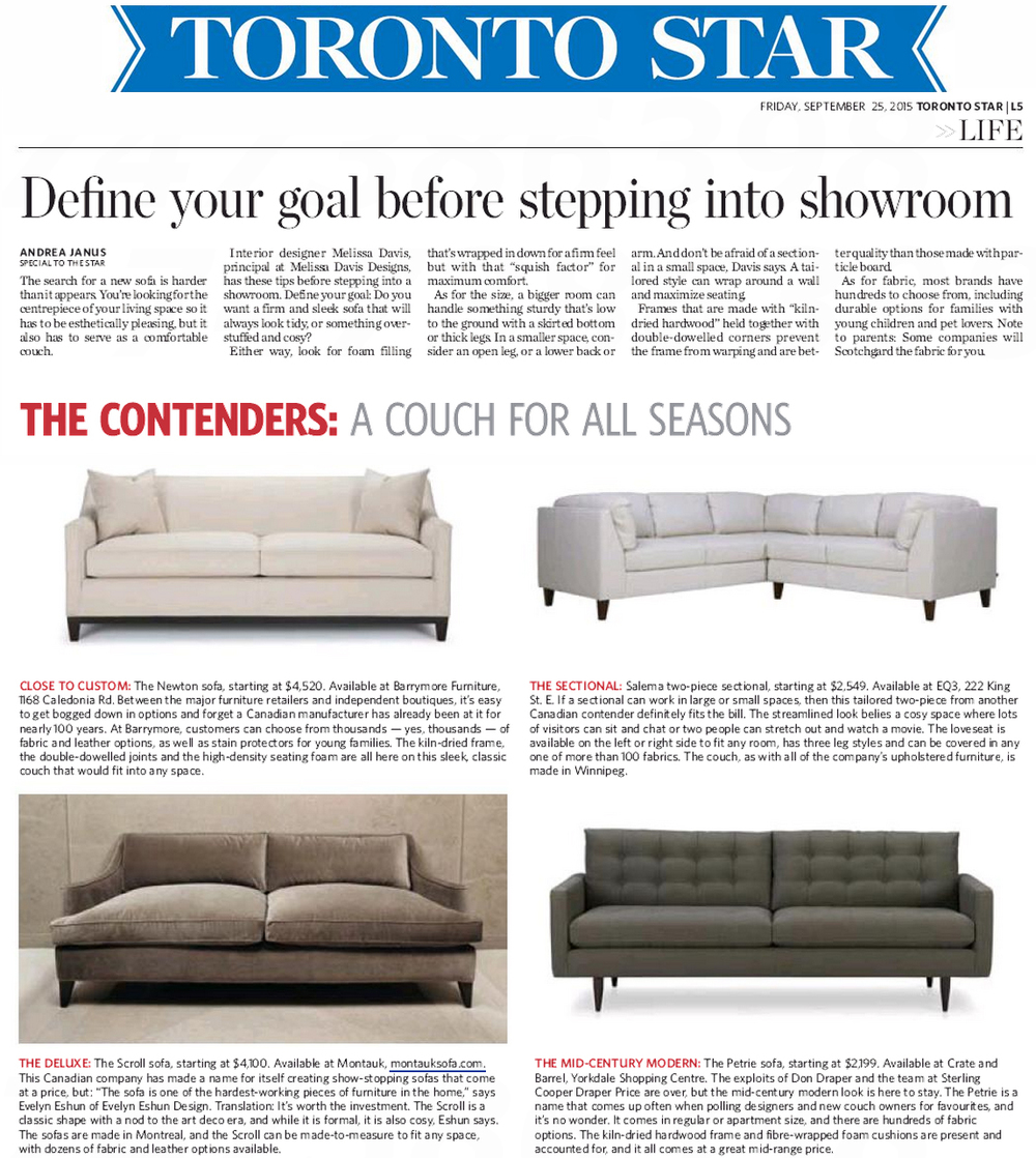Toronto Star September 25, 2015 Couches for All Seasons.jpg
