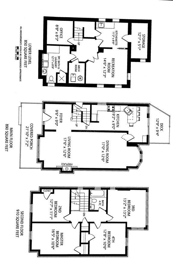 A typical flooplan in Toronto which will be opened up to reveal a large open kitchen with an island, a master suite with bathroom and walk in closet , a powder room on the main floor.