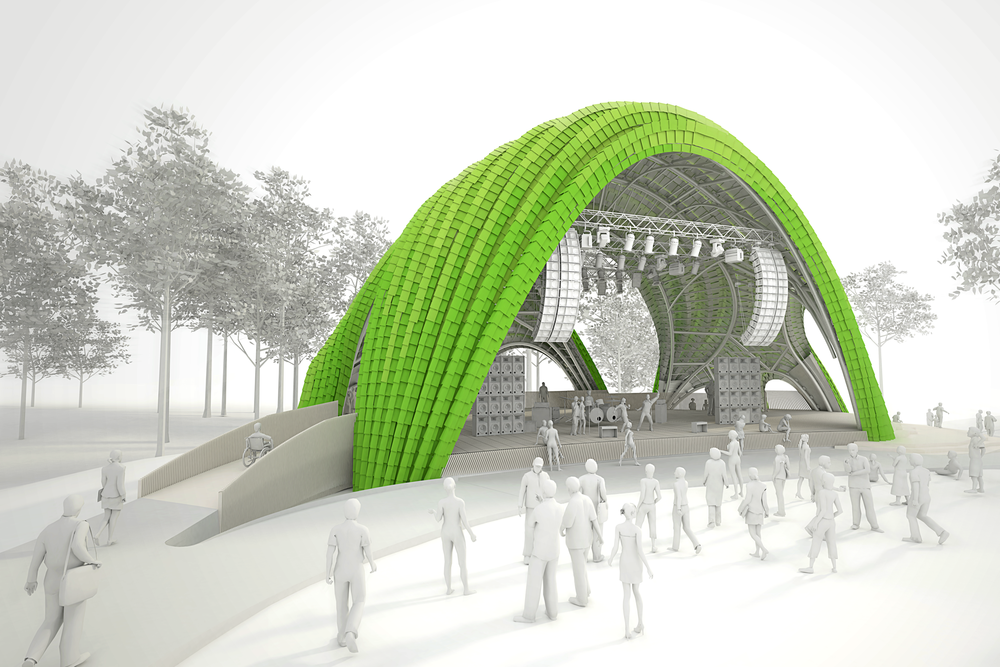 CHRYSALIS STAGE | PAVILION | SCULPTURE, MERRIWEATHER PARK AT SYMPHONY WOODS