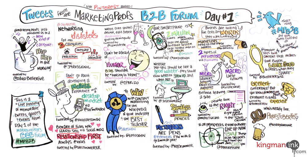 "The entire ""live Pinterest board"" from Day 1 of #MPB2B"