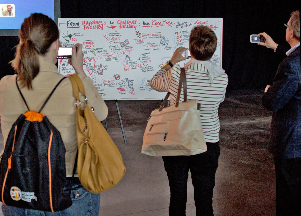 Attendees at Content Marketing World snap photos of the visual notes.