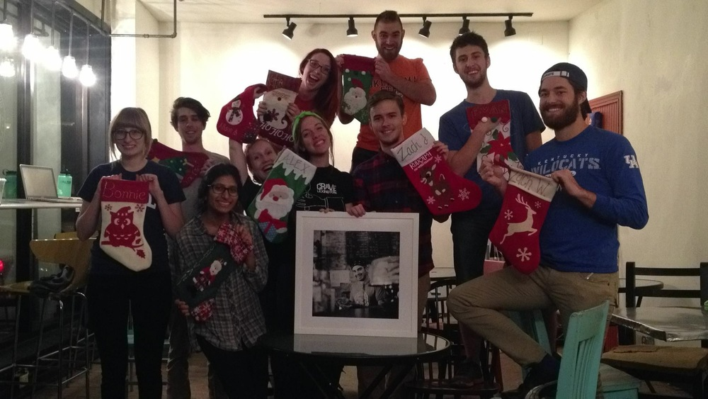 December 2014 - The Baristas with their stockings (crazy as ever)