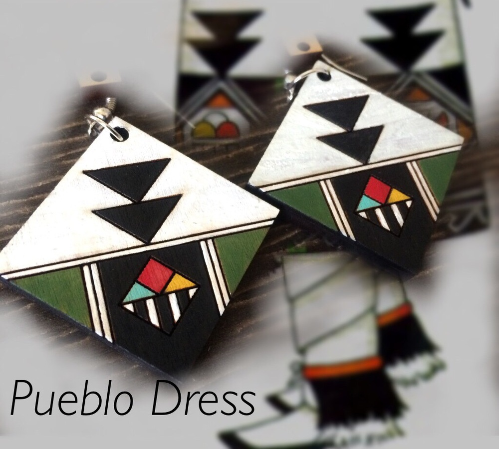 Painted with pueblo dress design.