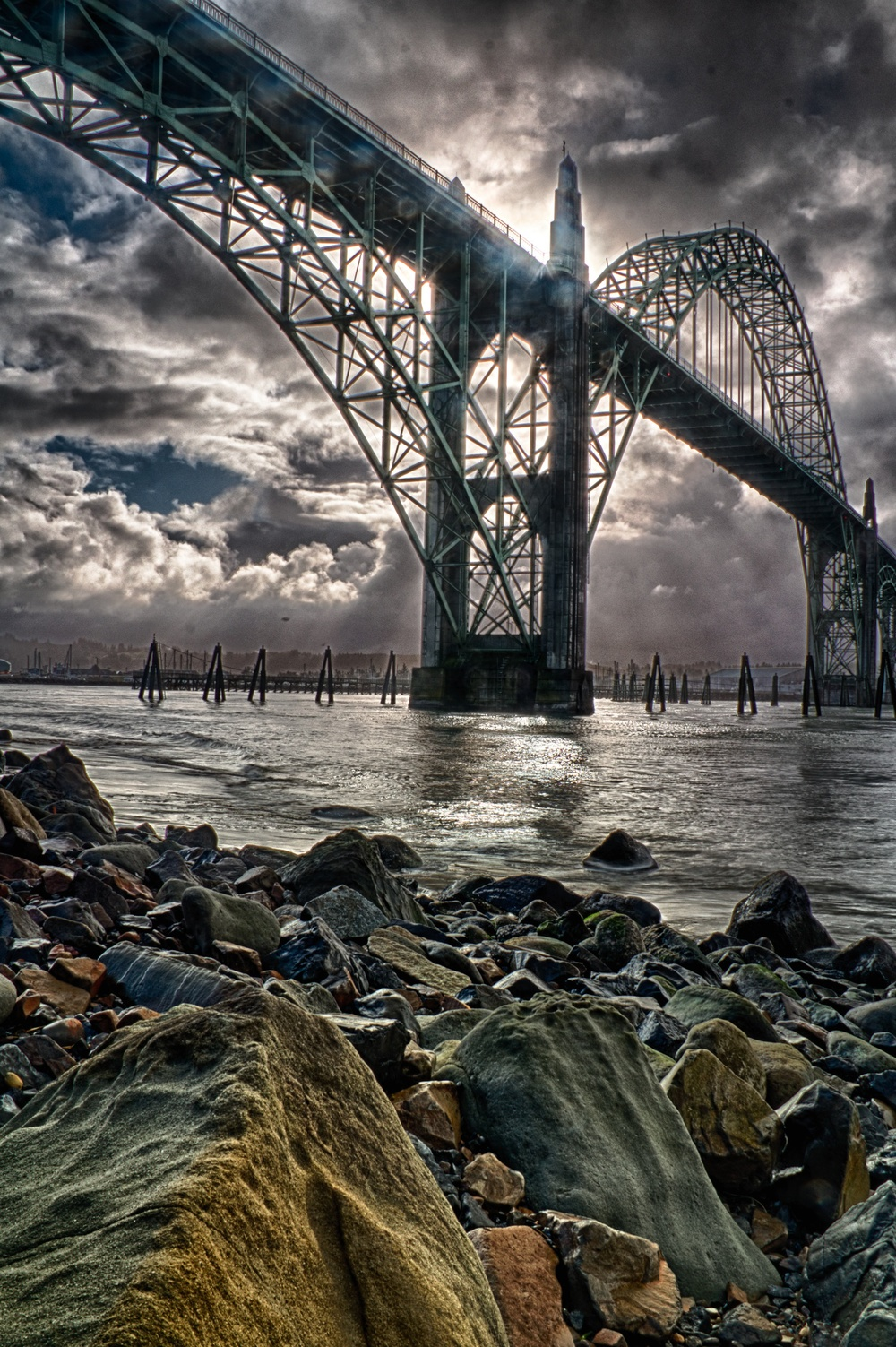 Yaquina Bay Bridge HDR