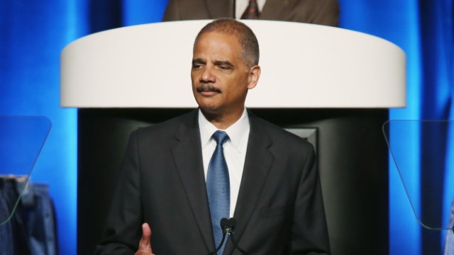 US Attorney General, Eric Holder at the ABA Conference in San Francisco, 2013