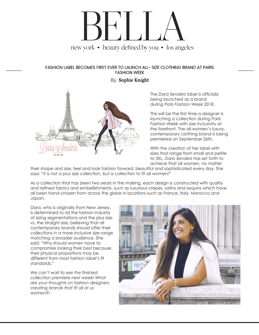 Bella Magazine Online - Dara Senders - PFW SS19.png