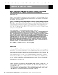 Download the PDF of theCarter G. Woodson Lesson Plan