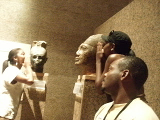 - Angi, Brittany and Robert with Shabaka and Taharqa, Nubian Pharaohs of the 25th Kemetic Dynasty, Nubian Museum, Aswan