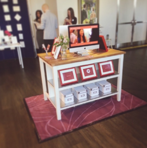 Our first @oneheartfilms booth ever. simple & elegant... we think :D